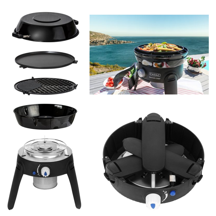 cadac safari chef 2 high pressure hp gas barbeque leisure outlet. Black Bedroom Furniture Sets. Home Design Ideas