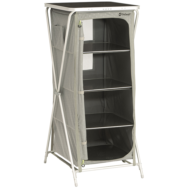 Outwell Bermuda Camping Wardrobe With Table Top Leisure