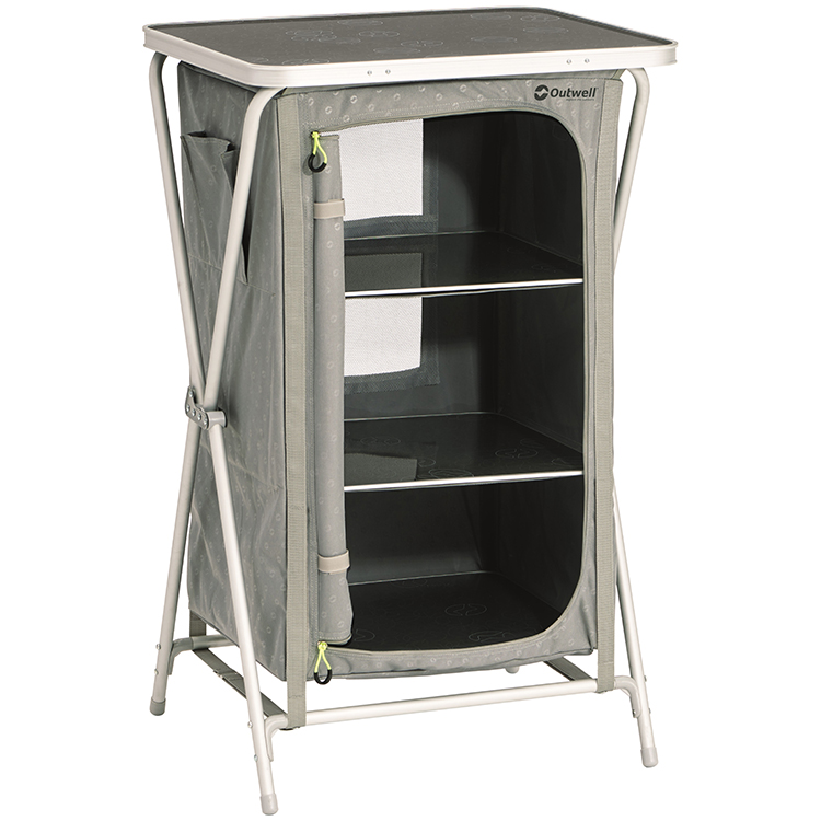 on orders over 95 outwell domingo camping wardrobe with table top. beautiful ideas. Home Design Ideas