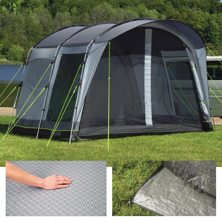 outwell country road tall driveaway awning 2017 bundle. Black Bedroom Furniture Sets. Home Design Ideas
