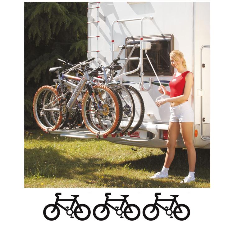 Fiamma Carry-Bike Lift 77 Red 3-Bike Carrier Set