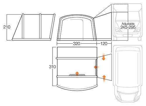Vango Galli Ii Compact Rsv Tall Inflatable Driveaway