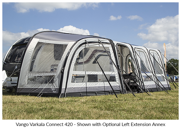 Vango Varkala Connect 420 Inflatable Caravan Awning 2019
