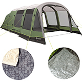 Outwell Woodburg 7a 7 Berth Air Tent 2019 Leisure Outlet