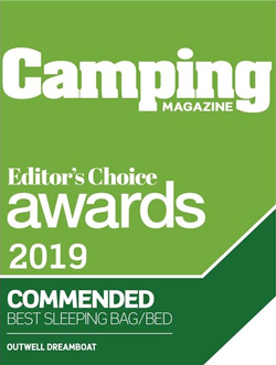 Camping Magazine, Editor's Choice Awards 2019, Commended Best Sleep Bag/Bed