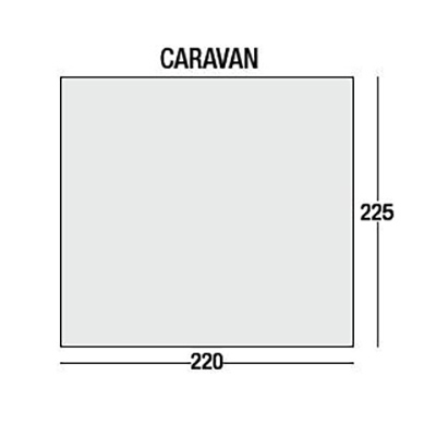 Bridgford Bluebell 220 Air Caravan Awning Floor Plan