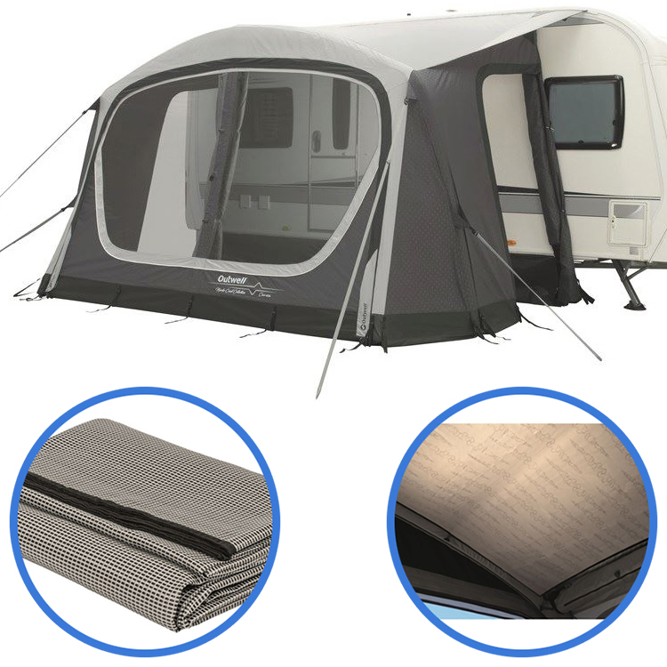 Outwell Cove 400A Caravan Porch Awning, Carpet & Liner ...