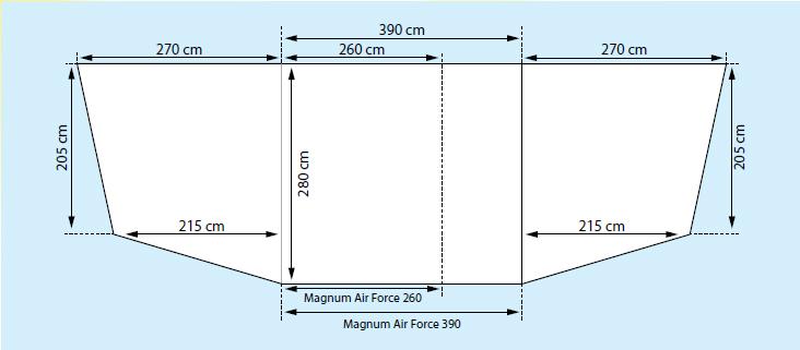 StarCamp Magnum 390 AirForce KlimaTex Porch Awning ...
